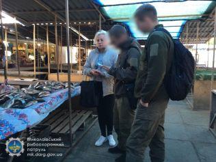 Рибоохоронні патрульні Миколаївщини зупинили незаконний збут риби загальною вагою понад 320 кг