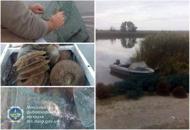 Рибпатрульні Миколаївщини вилучили незаконні знаряддя лову на р. Південний Буг