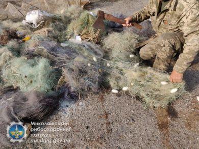 Миколаївський рибоохоронний патруль знищив понад 4 км сіток